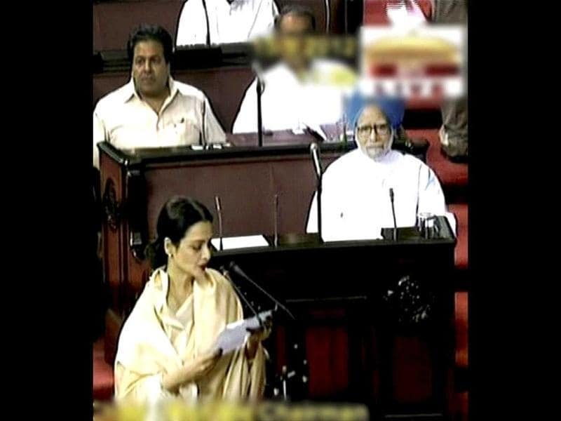 Rekha, is now also among the many prestigious actors who have taken the oath in the Rajya Sabha to become a Member of Parliament.