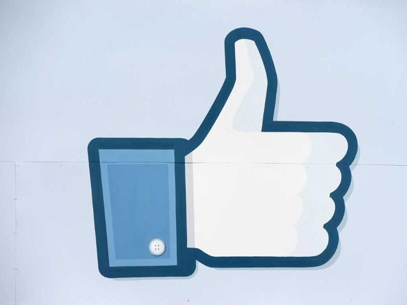 A 'Like' icon at the Facebook main campus in Menlo Park, California. AFP/Robyn Beck
