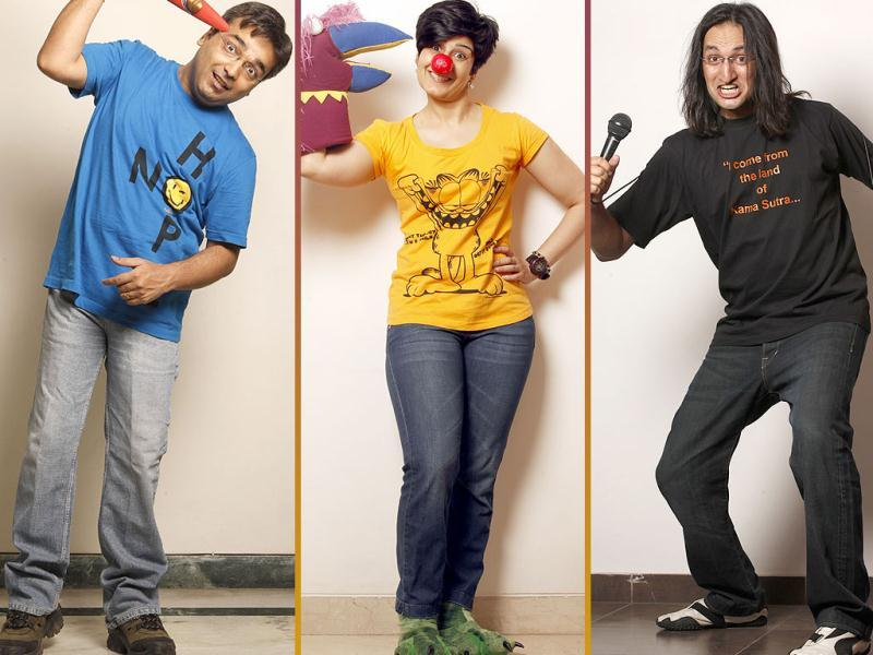 You have seen them stand, sit, roll on the floor and make you laugh. What we didn't show were these comics at their whackiest best. Check these pictures from an exclusive photoshoot for Brunch.