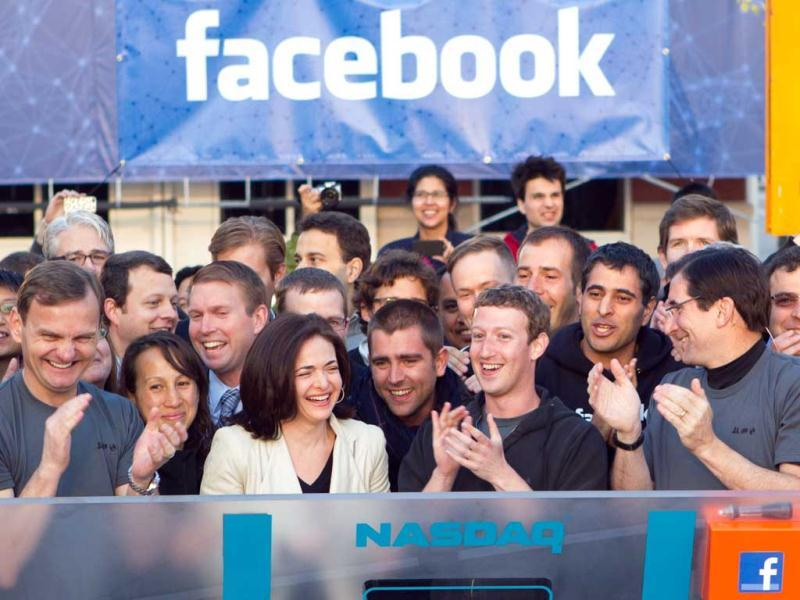 Facebook founder Mark Zuckerberg and his long time girlfriend Priscilla Chan tied the knot at a small ceremony in Palo Alto. (AP Photo/Nasdaq via Facebook, Zef Nikolla)