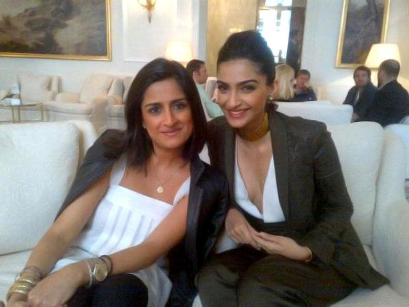 Sonam Kapoor at the Hotel Du Cap Eden Roc at Cannes 2012.