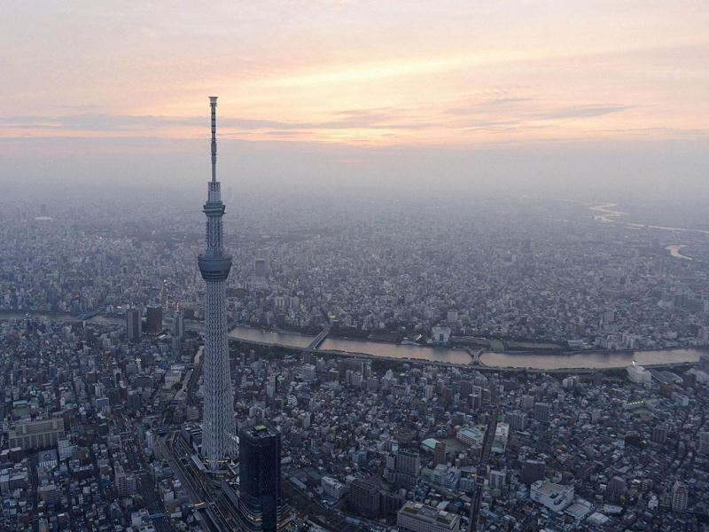 A view of Tokyo Skytree, the world's tallest broadcasting tower at 634 metres (2080 feet), in Tokyo. Reuters/Kyodo