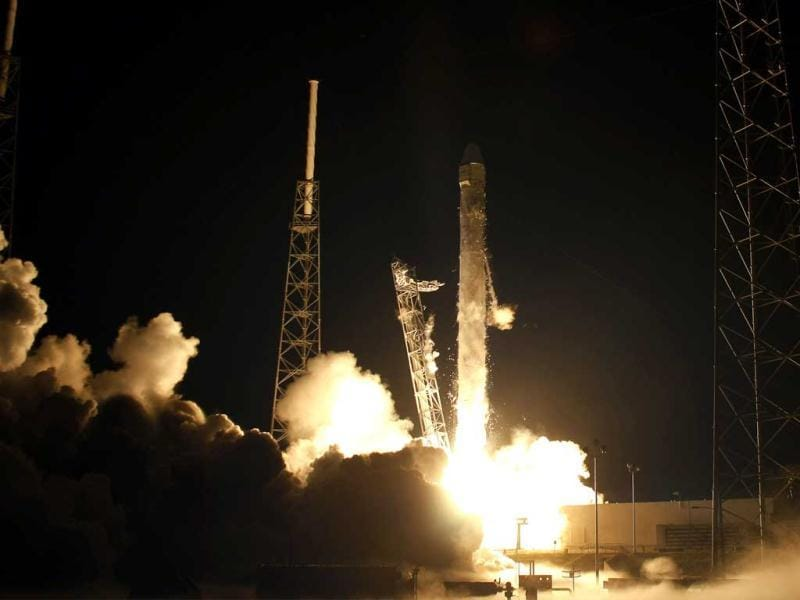 The SpaceX Falcon 9 test rocket, which is 178-foot (54-meter) tall, lifted off at 3.44am (0744 GMT) from a refurbished launch pad just south of where NASA launched its now-retired space shuttles. Reuters/Pierre DuCharme