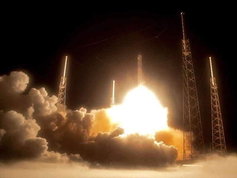 The Falcon 9 SpaceX rocket lifts off from space launch complex 40 at the Cape Canaveral Air Force Station in Cape Canaveral, Florida. AP/John
