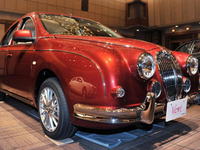 Japanese auto maker Mitsuoka Motor displays a new classically designed