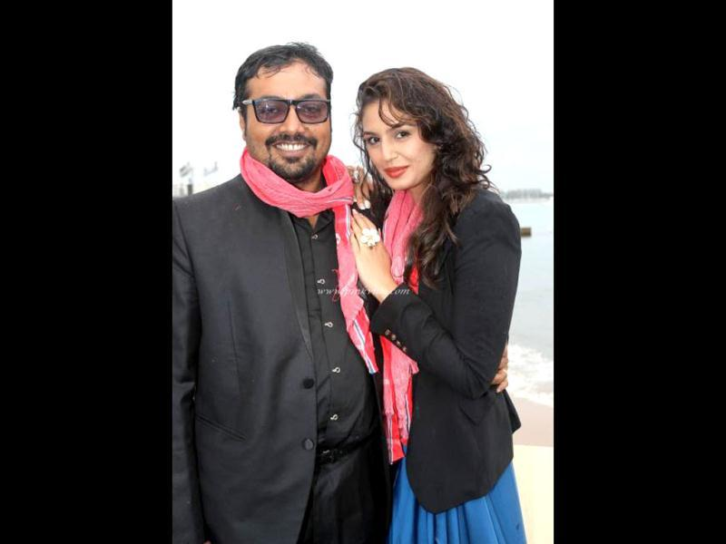 Anurag Kashyap with Huma Qureshi who's playing Mohsina in the film.