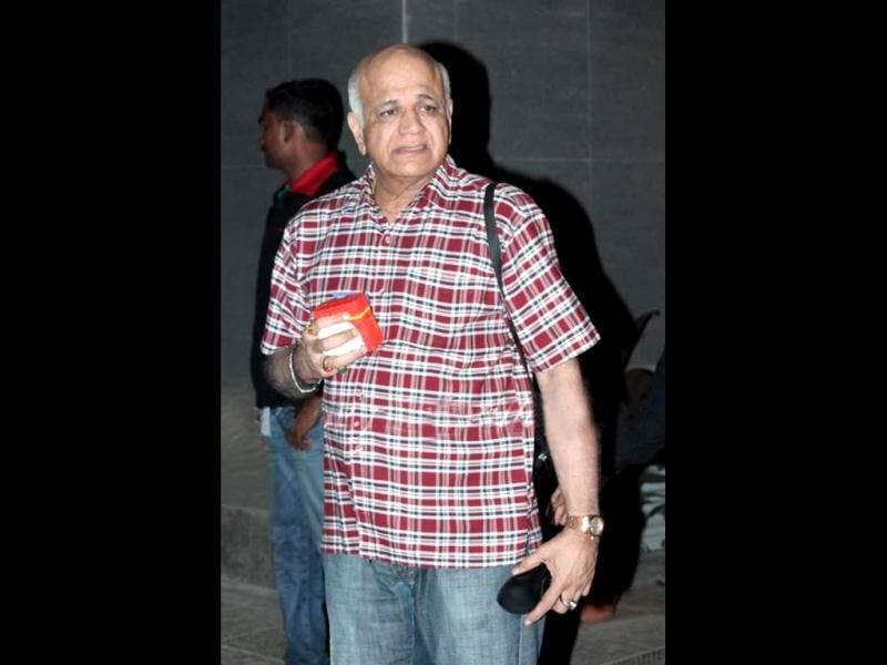 Shilpa Shetty's father at the hospital.