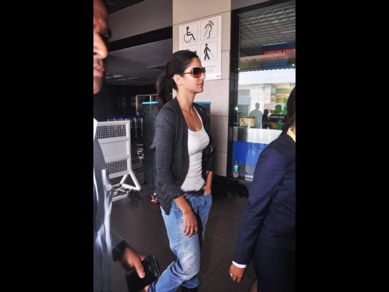 Katrina Kaif at Mumbai airport.