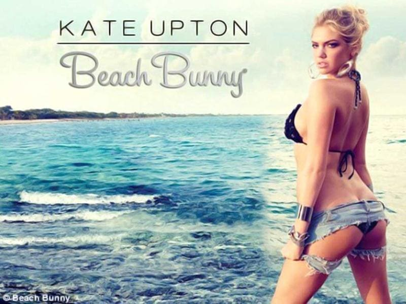 Kate Upton reveals her butt as she gives seductive looks during the photoshoot.