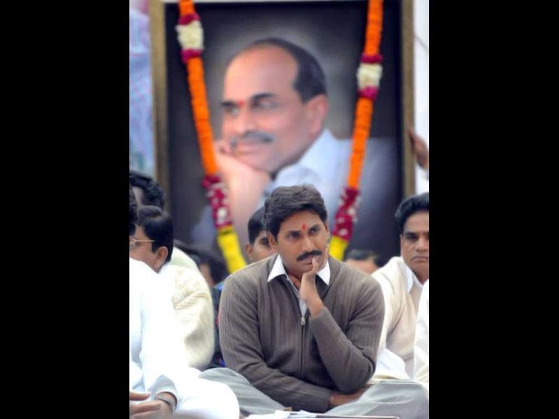 Jagan Mohan Reddy split from the Congress and floated Yuvajana Sramika Rythu Congress Party after he was not appointed chief minister of Andhra Pradesh after is father's death. AFP Photo/Raveendran