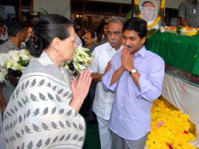After YSR Reddy's death in the fateful helicopter crash in 2009, Jagan Mohan Reddy's relations with the Congress deteriorated. AFP Photo