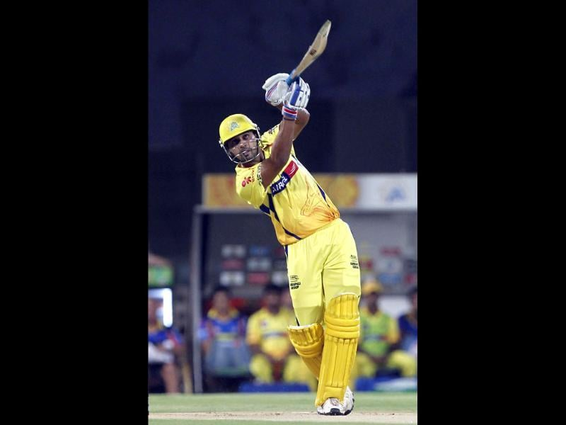 Chennai Super Kings' Murali Vijay plays a shot during the Indian Premier League (IPL) playoff cricket match against Delhi Daredevils in Chennai. HT/Santosh Harhare