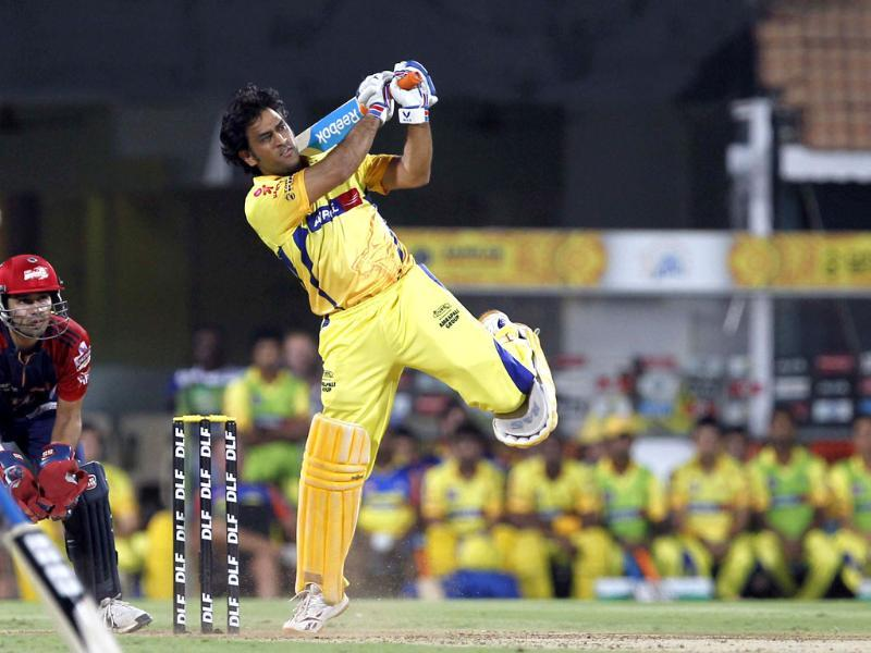 Chennai Super Kings captain MS Dhoni bats during the IPL Qualifier 2 match against Delhi Daredevils at MA Chidambaram stadium in Chennai. HT/Santosh Harhare