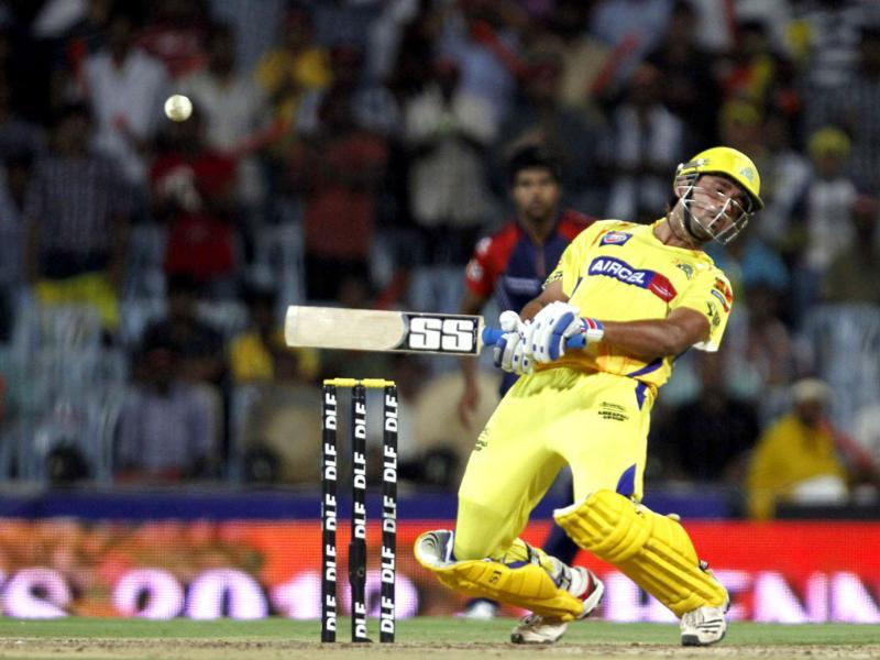 Chennai Super Kings batsman Murali Vijay in action against Delhi Daredevils during the IPL T20 Qualifier 2 at MA Chidambaram Stadium in Chennai. HT/Virendra Singh Gosain