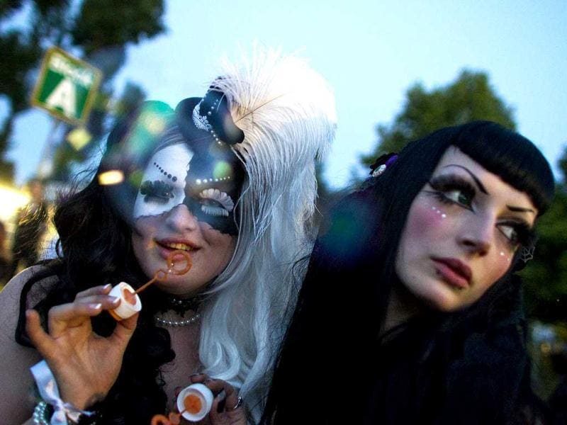 Revellers attend the Wave and Goth festival in Leipzig. Reuters Photo/Thomas Peter