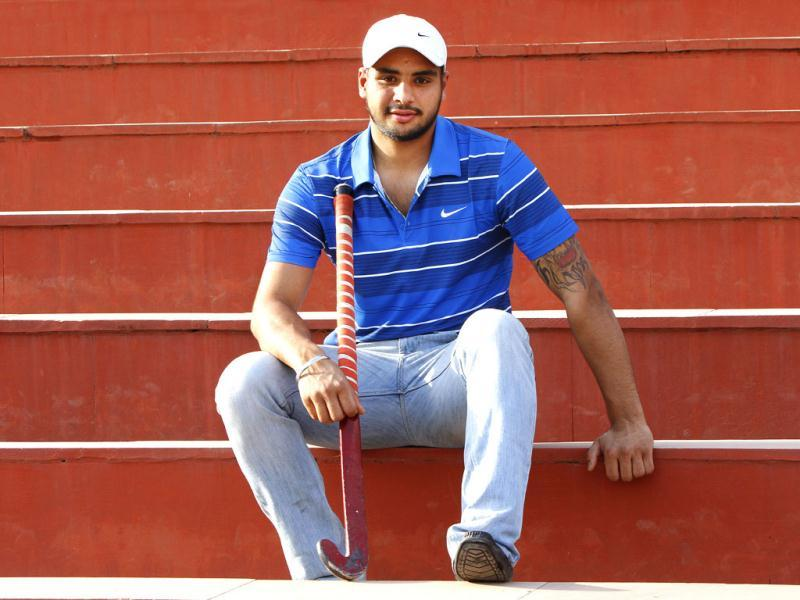 Gurjinder Singh has earned enough to make a cash down payment for a four-wheeler, all for himself. And his newly acquired financial status is the reward for playing one hard month of hockey at the highest levelPhoto credit: Rajnish Katyal