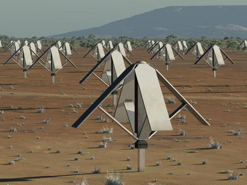 The Square Kilometre Array (SKA) radio telescope project is seen in his artists impression image made available by the Manchester based SKA Organisation. The location of the huge radio telescope, strong enough to detect extraterrestrial life in the far reaches of the universe, could be settled on Friday when the group in charge of the project meets in the Netherlands. Reuters/Handout - SKA Organisation/Swinburne Astronomy