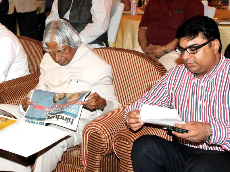 Former president APJ Abdul Kalam at UP Development Conclave organised by HT at Vivanta in Lucknow. (HT Photos)