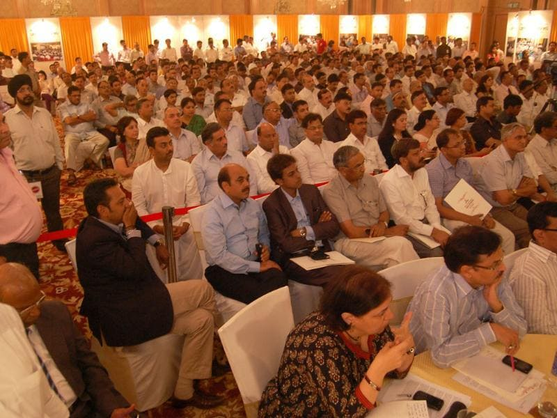 Guests attending UP Development Conclave organised by HT at Vivanta in Lucknow. (HT Photos)