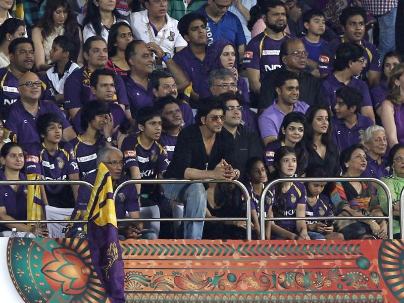 Kolkata Knight Riders co-owner Shahrukh khan during the IPL final match between Kolkata Knight Riders and Chennai Super Kings at MA Chidambaram stadium in Chennai.(Photo by Santosh Harhare / Hindustan Times)