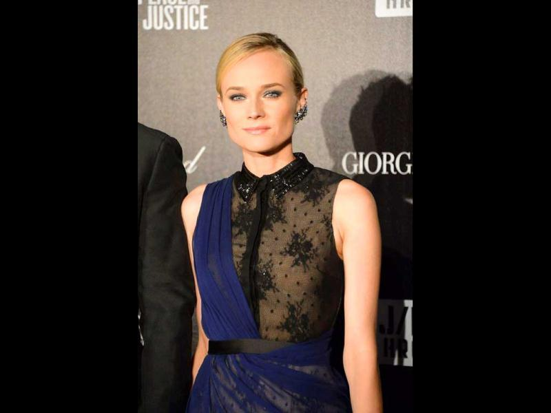 Yes, jury member Diane Kruger, too, flashed her nipple in this dress. Look closely, it's not visible to the naked eye (pun unintended) at first!