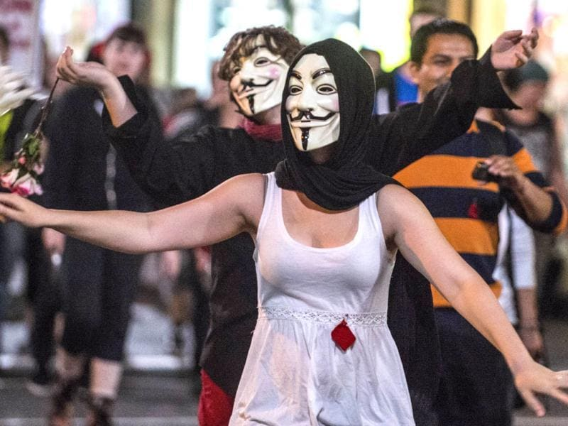 Students protest tuition fee increases in Montreal. AFP/Rogerio Barbosa