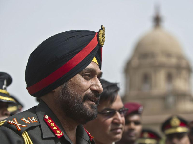 New army chief General Bikram Singh addresses the media at the defence ministry in New Delhi. AFP/Prakash Singh