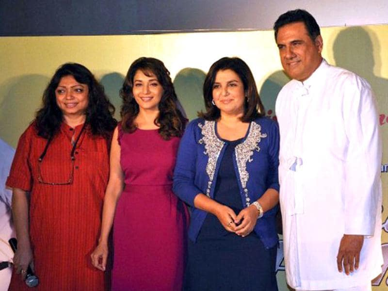 Madhuri Dixit Nene with Shirin Farhad team. (AFP)