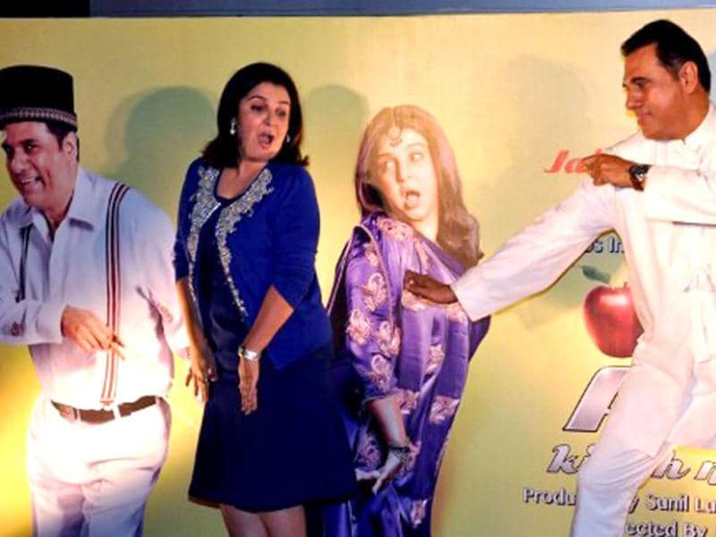 Farah Khan and actor Boman Irani look like their character at the first look launch event. (AFP)