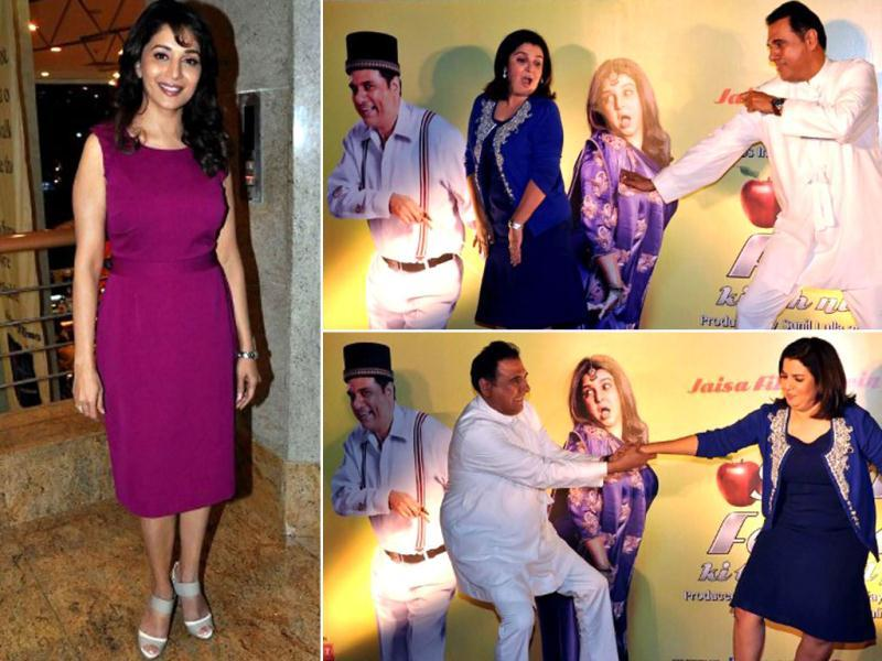 Farah Khan's debut venture is generating a lot of interest online as its first look was launched recently. Boman Irani and Farah Khan exude a comic chemistry on screen. Here're snapshots from the first look launch.
