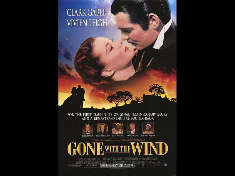 Gone with the Wind: This 1939 classic holds the record of highest-grossing film for 25 years, and at contemporary prices has earned more than any other film.