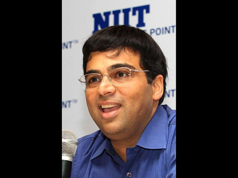 World Chess Champion Vishwanathan Anand speaks during a press conference in Chennai. AFP photo