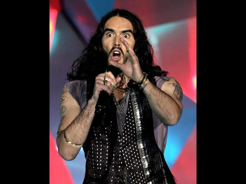 Russell Brand was the host at the gala event.