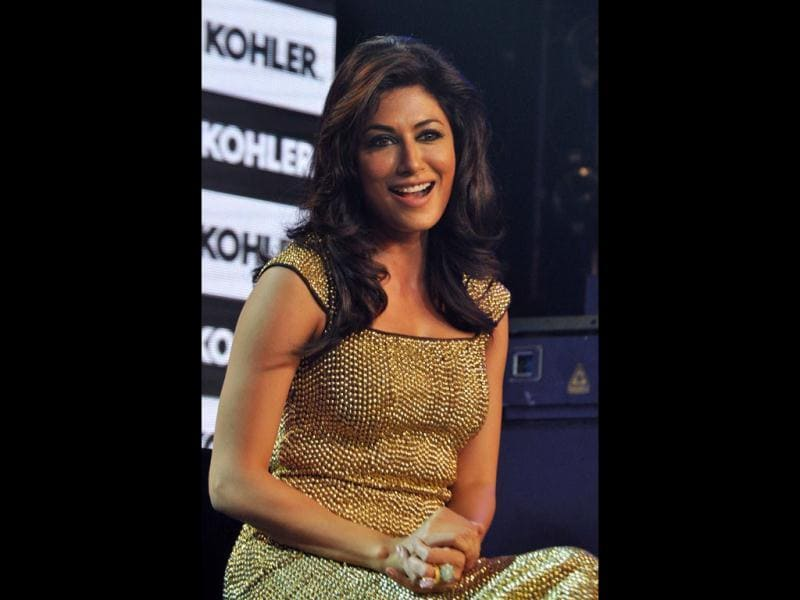 Chitrangada Singh looks smoking hot in a gold dress as she attends a promotional event for Kohler bathroom products in Mumbai on June 4. (AFP photo)