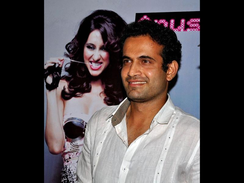 Irfan Pathan donned a white shirt for the event.
