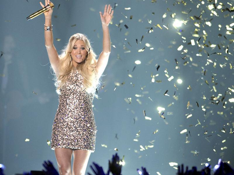 Singer Carrie Underwood performs at the 2012 CMT Music Awards in NashvillE AP Photo/John Shearer