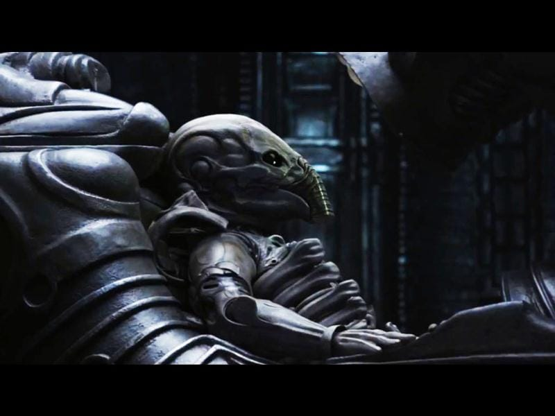 A space jockey in the film.
