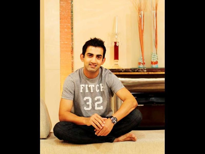 Off the cricket pitch, Gambhir can be a lot of fun. He swapped tales about the jokers in the KKR Dressing Room (HT Photo: Ajay Aggarwal)