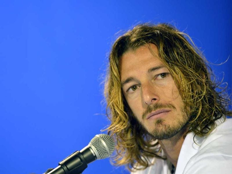 Hairline advantage: Italy's national football team defender Federico Balzaretti. AFP/Giuseppe Cacace
