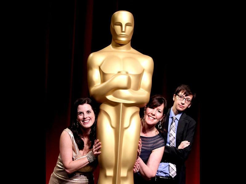 39th Annual Student Academy Awards documentary category winners pose together at the Academy of Motion Picture Arts and Sciences in Beverly Hills. (AP Photo)