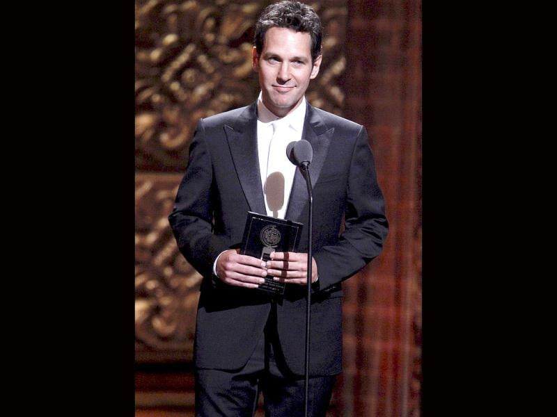 Presenter Paul Rudd speaks on stage during the American Theatre Wing's 66th annual Tony Awards in New York, June 10, 2012. (Reuters)