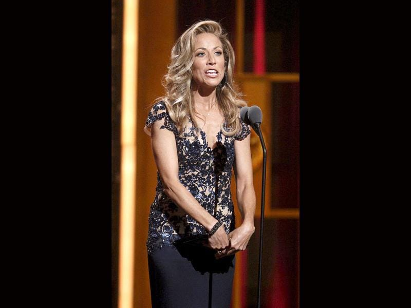 Presenter Sheryl Crow speaks during the American Theatre Wing's 66th annual Tony Awards in New York. (Reuters)