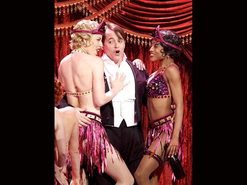 Hollywood star Matthew Broderick performs in a musical during the 66th annual Tony Awards. (AP)