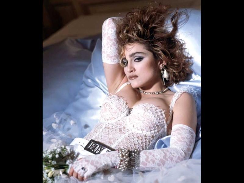 1984: Her popular track Like a Virgin was quite risqué. Madonna debuted the track at the first MTV awards, singing it in a wedding gown while writhing on stage.