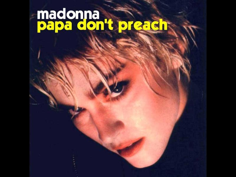 1986: Her single Papa Don't Preach raised many eyebrows and was interpreted by many as an anti-abortion anthem.
