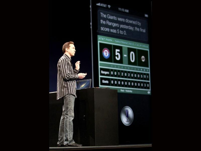 Scott Forstall, senior vice president of iOS Software at Apple Inc., speaks about iOS6 and Siri during the Apple Worldwide Developers Conference 2012 in San Francisco, California June 11, 2012. REUTERS/Stephen Lam