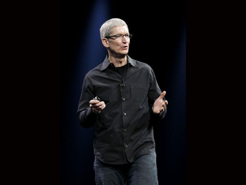Apple CEO Tim Cook speaks at the Apple Developers Conference in San Francisco, Monday, June 11, 2012. (AP Photo/Paul Sakuma)