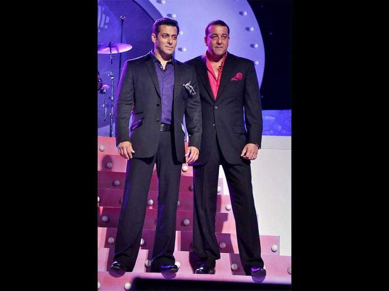 They might have locked horns at a party right before the premiere of Bigg Boss 5, but Salman and Sanjay's friendship is rock solid.