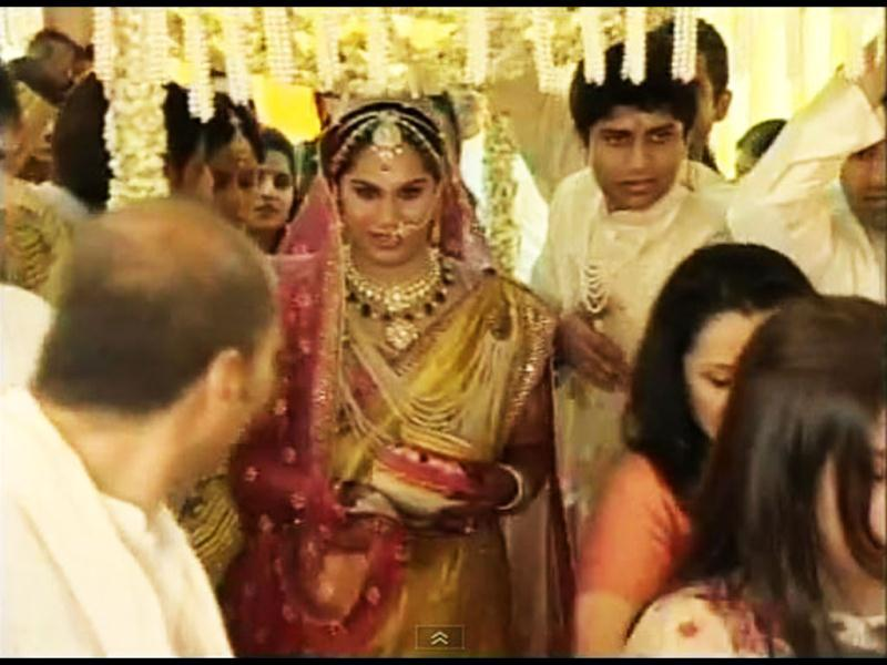 Here comes the bride Upasana.