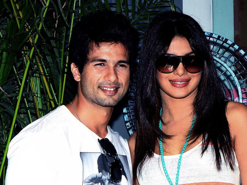 Shahid, Priyanka Chopra pose for a photograph at the event.